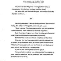First Script of Second Thoughts
