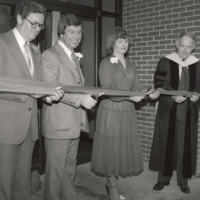 Ribbon cutting ceremony for the Bill & Gloria Gaither Music Building in Krannert Fine Arts Building--April 1979.jpg