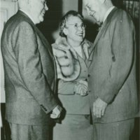 Mr. and Mrs. Wilson with President Eisenhower