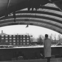 Reardon overseeing the construction of the O.C. Lewis Gym
