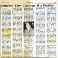 Nicholson faces Challenges as President